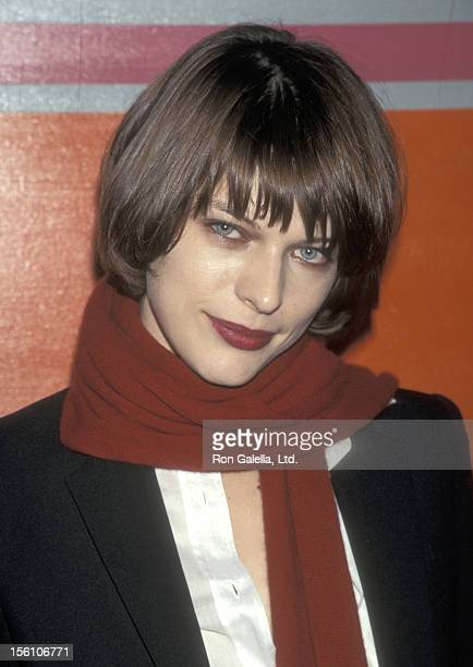 Model/Actress Milla Jovovich attends the First Annual Ovarian Cancer Research Fund Benefit on December 4 1997 at Pier 59 Studios in New York City New...
