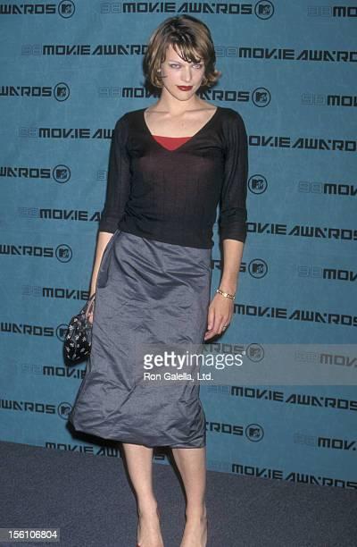 Model/Actress Milla Jovovich attends the Seventh Annual MTV Movie Awards on May 30 1998 at The Barker Hangar at The Santa Monica Air Center in Santa...