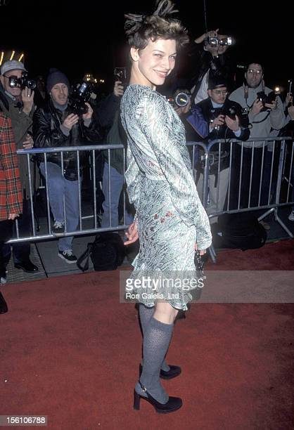 Model/Actress Milla Jovovich attends the 'Stepmom' New York City Premiere on December 15 1998 at Ziegfeld Theater in New York City New York