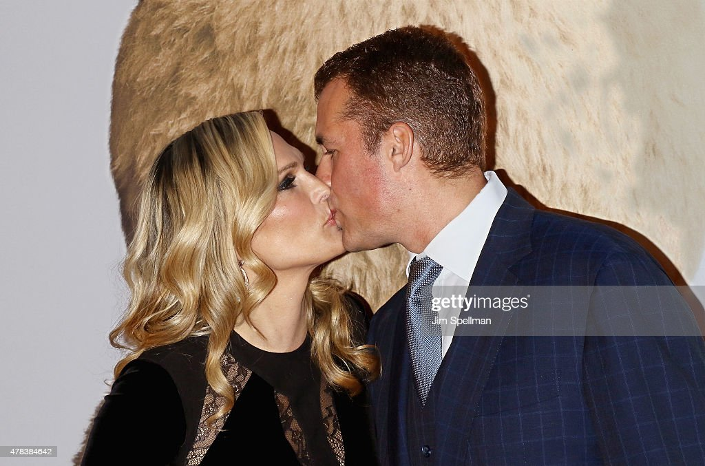 Model/actress Molly Sims and husband Scott Stuber attend the 'Ted 2' New York premiere at Ziegfeld Theater on June 24 2015 in New York City
