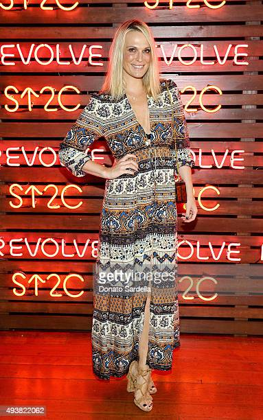 Model/actress Molly Sims attends the REVOLVE fashion show benefiting Stand Up To Cancer on October 22 2015 in Los Angeles California