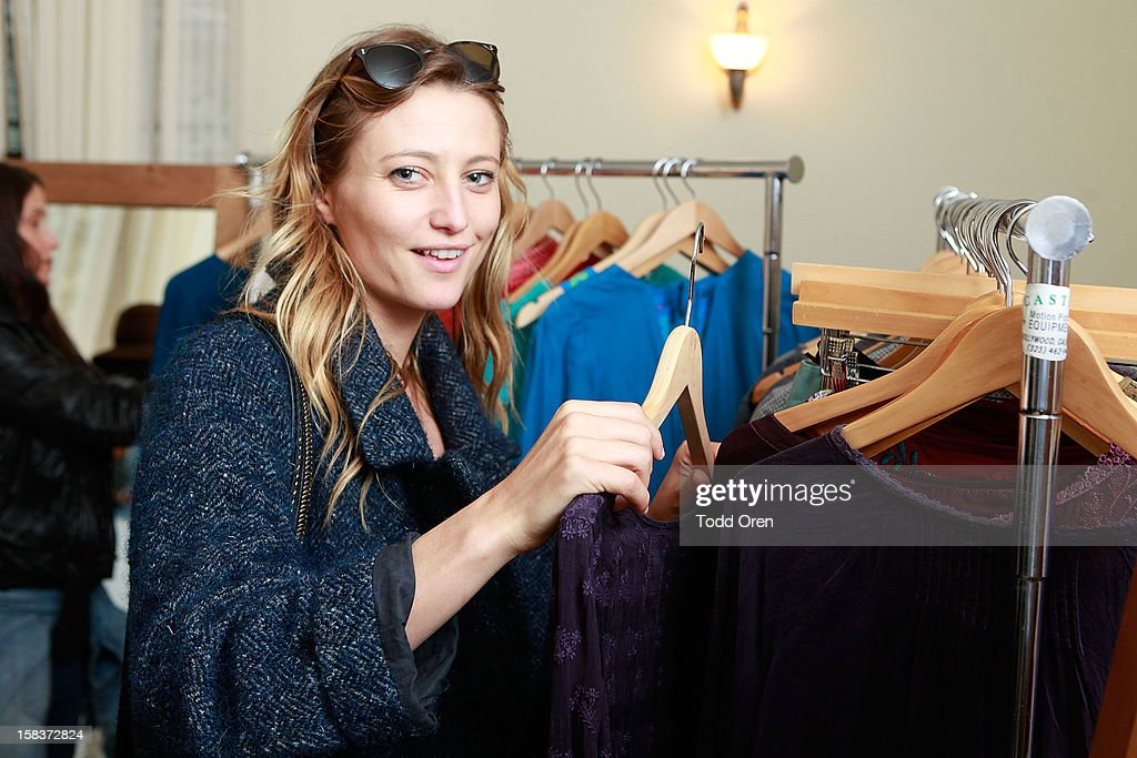 Model/Actress Noot Seear shops at the Johnny Was Holiday Gifting Suite at Chateau Marmont on December 13, 2012 in Los Angeles, California.
