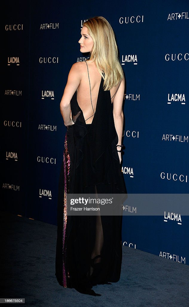Model/Actress Rosie Huntington-Whiteley arrives at the LACMA 2013 Art + Film Gala on November 2, 2013 in Los Angeles, California.
