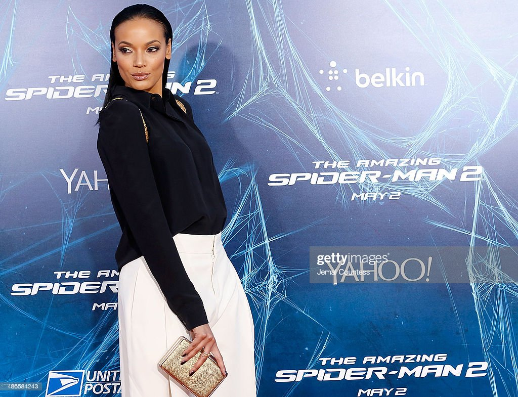 Model/actress Selita Ebanks attends 'The Amazing Spider-Man 2' premiere at the Ziegfeld Theater on April 24, 2014 in New York City.
