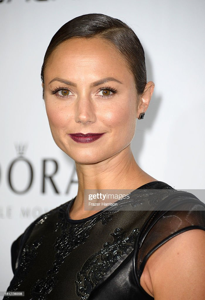 Model/actress Stacy Keibler arrives at The Hollywood Reporter's Emmy Party at Soho House on September 19, 2013 in West Hollywood, California.