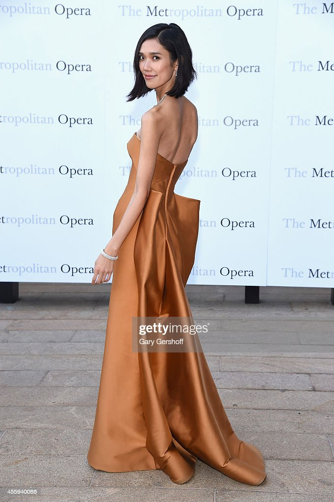 Model/actress Tao Okamoto attends the season opening of 'The Marriage of Figaro at The Metropolitan Opera House on September 22 2014 in New York City