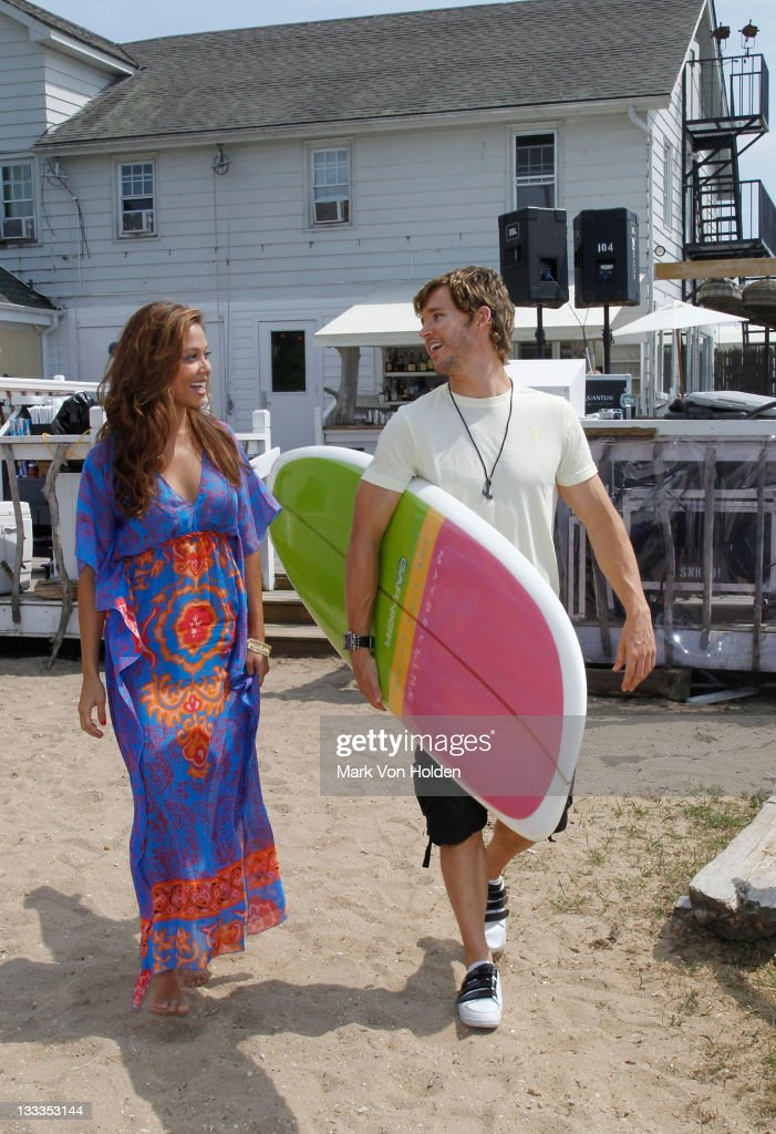 Model/actress Vanessa Minnillo and actor Ryan Kwanten attend Maybelline New York Garnier Surf Salon at The Surf Lodge on June 26 2010 in Montauk New...