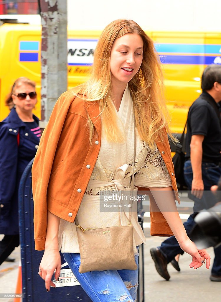 Model/Actress <a gi-track='captionPersonalityLinkClicked' href=/galleries/search?phrase=Whitney+Port&family=editorial&specificpeople=544473 ng-click='$event.stopPropagation()'>Whitney Port</a> is seen walking in Soho on May 24, 2016 in New York City.