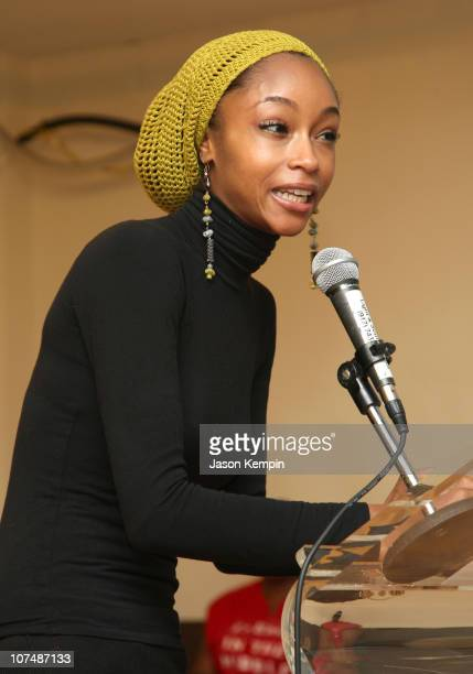 Model/Actress Yaya DaCosta attends the StoryCorps Griot and Harlem YMCA 'Gathering Stories' event at the Harlem YMCA on December 13 2007 in New York...