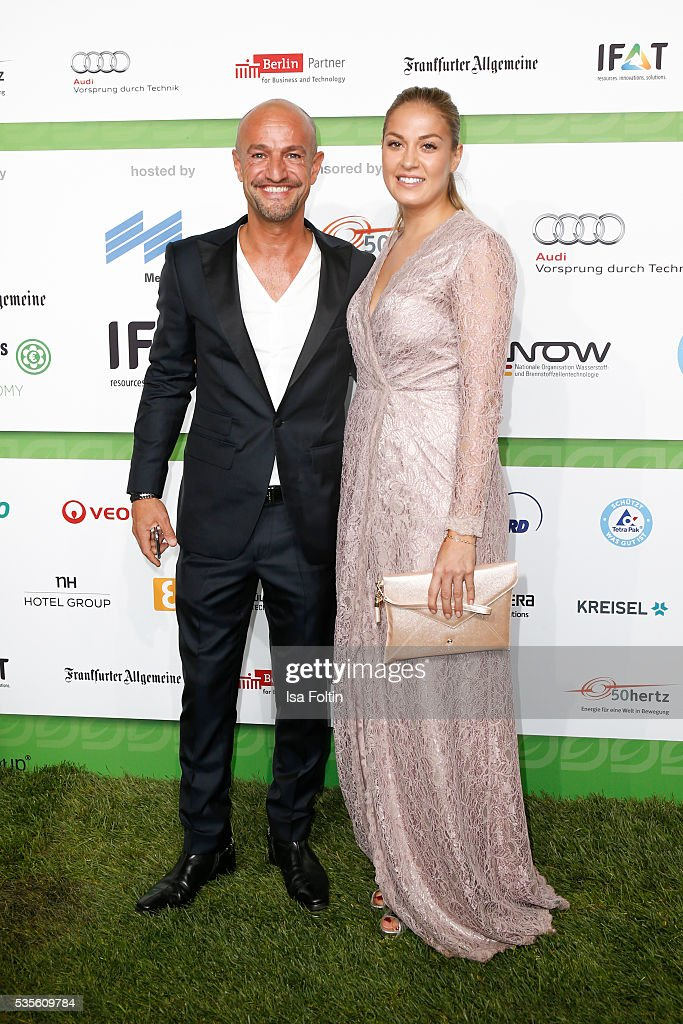 Modelagent Peyman Amin and guest attends the Green Tec Award at ICM Munich on May 29, 2016 in Munich, Germany.