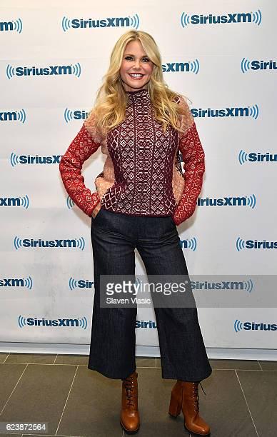 Model/author Christie Brinkley visits SiriusXM Studio on November 17 2016 in New York City