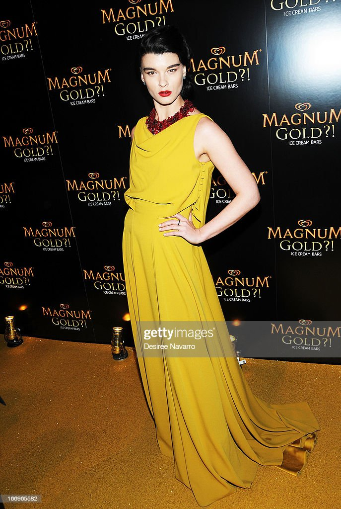 Model/author Crystal Renn attends the screening of 'As Good As Gold' during the 2013 Tribeca Film Festival at Gotham Hall on April 18, 2013 in New York City.