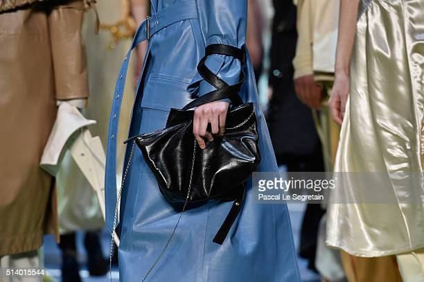A modelbag detail walks the runway during the Celine show as part of the Paris Fashion Week Womenswear Fall/Winter 2016/2017 on March 6 2016 in Paris...