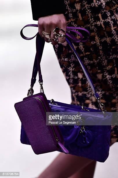 A modelbag detail walks the runway during the Christian Dior show as part of the Paris Fashion Week Womenswear Fall/Winter 2016/2017 on March 4 2016...
