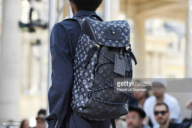 A modelbag detail walks the runway during the Louis Vuitton Menswear Spring/Summer 2017 show as part of Paris Fashion Week on June 23 2016 in Paris...