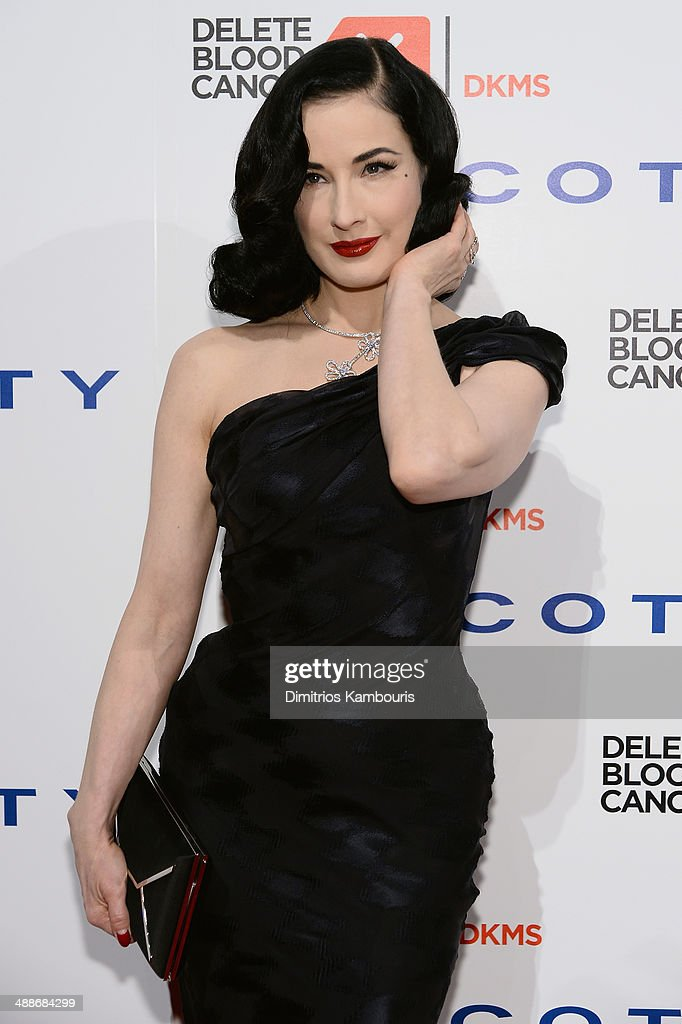 Model/dancer Dita von Teese attends the 2014 Delete Blood Cancer Gala Honoring Evan Sohn and the Sohn Conference Foundation at Cipriani Wall Street on May 7, 2014 in New York City.