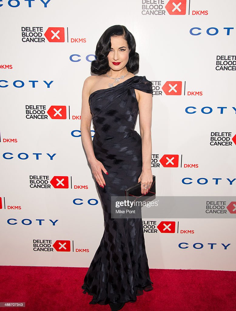 Model/Dancer <a gi-track='captionPersonalityLinkClicked' href=/galleries/search?phrase=Dita+Von+Teese&family=editorial&specificpeople=210578 ng-click='$event.stopPropagation()'>Dita Von Teese</a> attends the 2014 Delete Blood Cancer Gala at Cipriani Wall Street on May 7, 2014 in New York City.