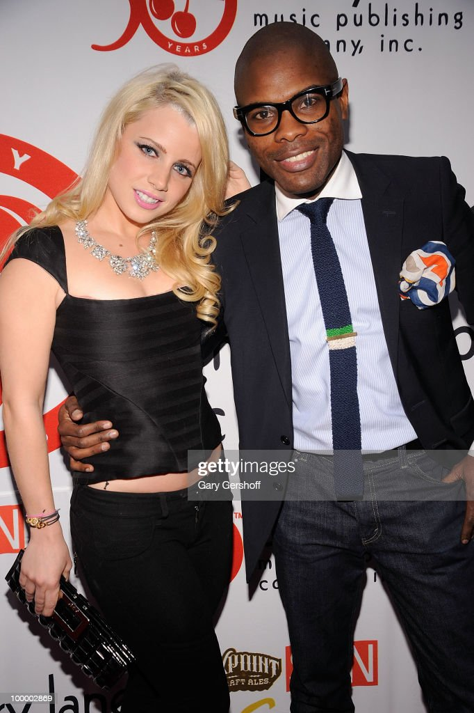 Model/designer Jaimie Hilfiger (L) and stylist Keino Benjamin attend Cherry Lane Music Publishing's 50th Anniversary celebration at Brooklyn Bowl on May 19, 2010 in the Brooklyn borough of New York City.