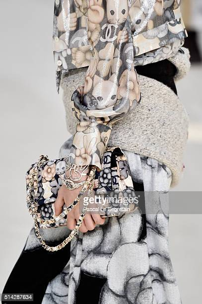 A modeldetail walks the runway during the Chanel show as part of the Paris Fashion Week Womenswear Fall/Winter 2016/2017 on March 8 2016 in Paris...