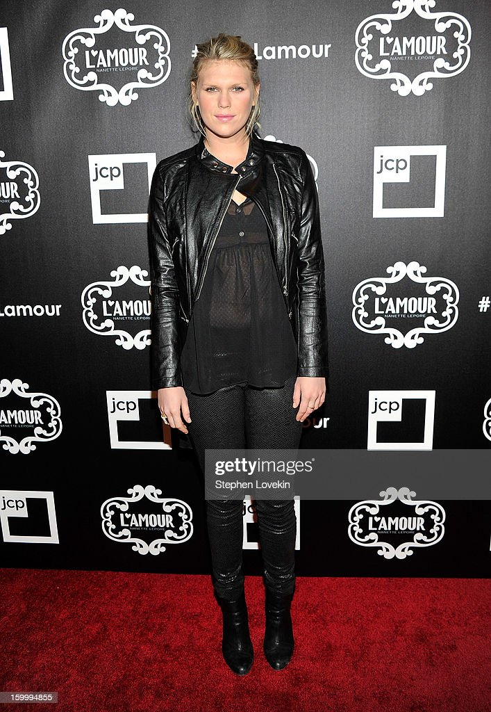 Model/DJ Alexandra Richards attnds the L'Amour by Nanette Lepore for JCPenney launch party at Good Units at Hudson Hotel on January 24, 2013 in New York City.