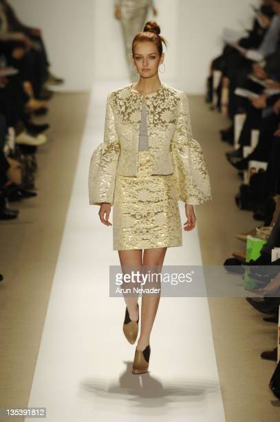 Model/heiress Lydia Hearst wearing Atil Kutoglu Fall 2007