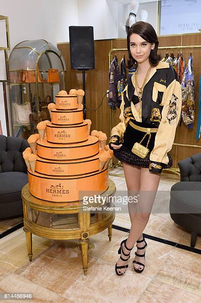 Model/Internet personality Amanda Steele attends the What Goes Around Comes Around Beverly Hills Opening Event on October 13 2016 in Beverly Hills...