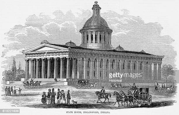 Modelled after the temple of Minerva Perthenon in Athens the Illinois State House was built in 1834 The building housed the state library courts and...