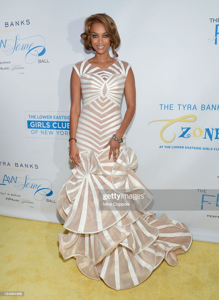 Model/media personality <a gi-track='captionPersonalityLinkClicked' href=/galleries/search?phrase=Tyra+Banks&family=editorial&specificpeople=202216 ng-click='$event.stopPropagation()'>Tyra Banks</a> attends The Flawsome Ball For The <a gi-track='captionPersonalityLinkClicked' href=/galleries/search?phrase=Tyra+Banks&family=editorial&specificpeople=202216 ng-click='$event.stopPropagation()'>Tyra Banks</a> TZONE at Capitale on October 18, 2012 in New York City.