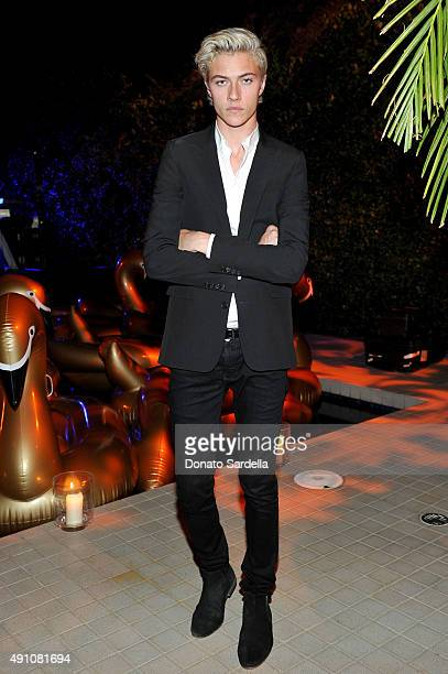 Model/musician Lucky Blue Smith attends Teen Vogue Celebrates the 13th Annual Young Hollywood Issue with Emporio Armani on October 2 2015 in Beverly...