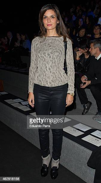 Modelo Maria Reyes is seen attending the catwalks during Madrid Fashion Week Fall/Winter 2015/16 at Ifema on February 7 2015 in Madrid Spain