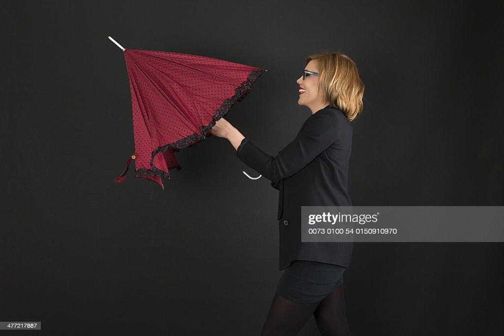 Modelo Sesión paraguas.