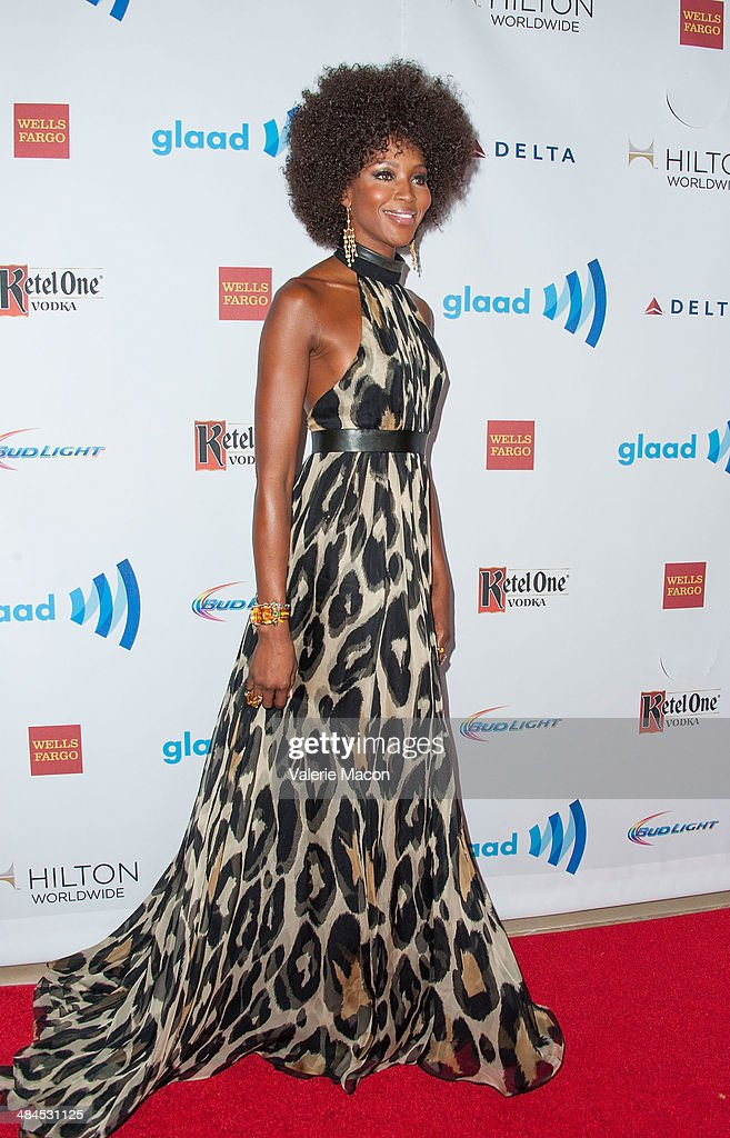 Model/Producer <a gi-track='captionPersonalityLinkClicked' href=/galleries/search?phrase=Naomi+Campbell&family=editorial&specificpeople=171722 ng-click='$event.stopPropagation()'>Naomi Campbell</a> arrives at the 25th Annual GLAAD Media Awards at The Beverly Hilton Hotel on April 12, 2014 in Beverly Hills, California.