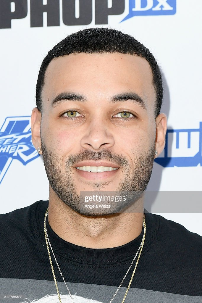Model/Recording artist Don Benjamin attends Next Level Presented By AMP Energy A Hip Hop Gaming Tournament at Rostrum Records on June 23 2016 in Los...