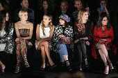 Models Adriana Lima Lena Gercke DJ Harley VieraNewton model Langley Fox actress Pauline Lefèvre and DJ Mademoiselle Yulia attend the Desigual fashion...