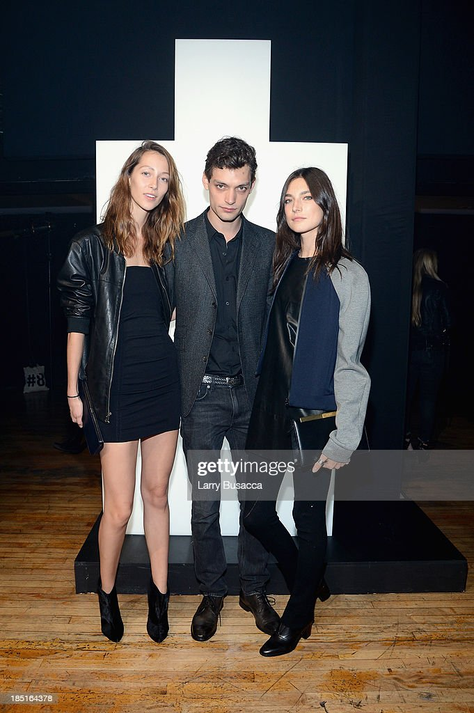 Models <a gi-track='captionPersonalityLinkClicked' href=/galleries/search?phrase=Alana+Zimmer&family=editorial&specificpeople=4342175 ng-click='$event.stopPropagation()'>Alana Zimmer</a>, Nick Rae, and Jacquelyn Jablonski attend the Burberry Brit Rhythm Men's Launch in New York at Irving Plaza on October 17, 2013 in New York City.