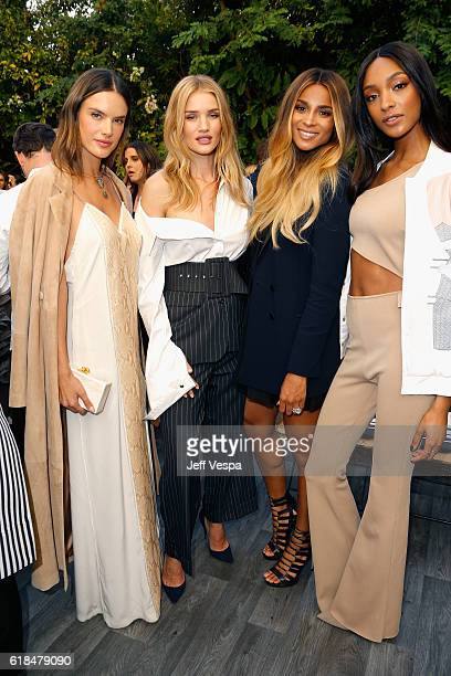 Models Alessandra Ambrosio Rosie HuntingtonWhiteley singer Ciara and model Jourdan Dunn at the CFDA/Vogue Fashion Fund Show and Tea presented by kate...