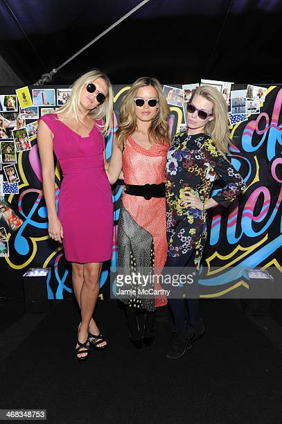 Models Alexandra Richards Georgia May Jagger and Theodora Richards attend the Sunglass Hut and Georgia May Jagger presentation of 94 Shades of Summer...