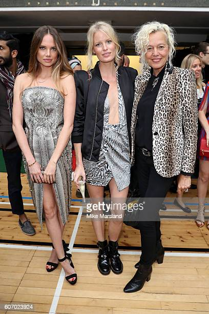 Models Alicia Rountree guest and photographer Ellen von Unwerth attend the Julien Macdonald show during London Fashion Week Spring/Summer collections...