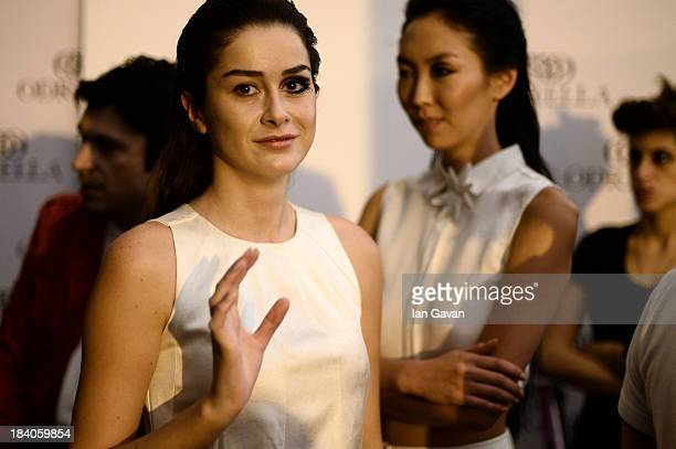 Models are seen backstage at the Argande show during MercedesBenz Fashion Week Istanbul s/s 2014 Presented By American Express on October 11 2013 in...