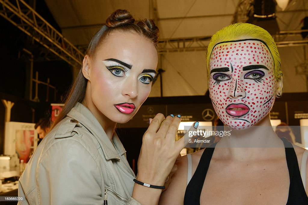 Models are seen backstage at the Maybelline New York By DB Berdan show during Mercedes-Benz Fashion Week Istanbul s/s 2014 presented by American Express on October 8, 2013 in Istanbul, Turkey.