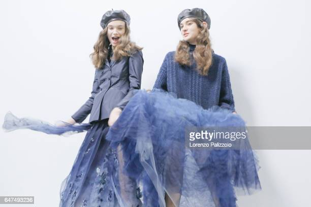 Models are seen backstage before the Christian Dior show as part of the Paris Fashion Week Womenswear Fall/Winter 2017/2018 on March 3 2017 in Paris...