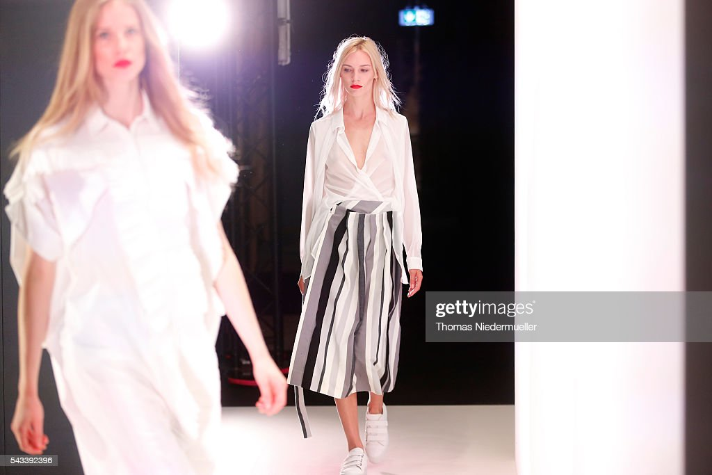 Models are seen backstage during the Avelon show as part of the Mercedes-Benz Fashion Week Berlin Spring/Summer 2017 at Erika Hess Eisstadion on June 28, 2016 in Berlin, Germany.