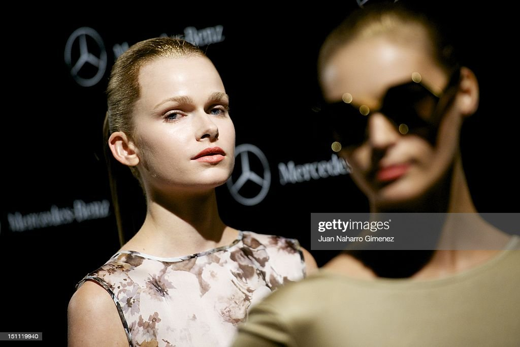 Models are seen backstage during the Cibeles Madrid Fashion Week Spring/Summer 2013 at Ifema on September 1, 2012 in Madrid, Spain.