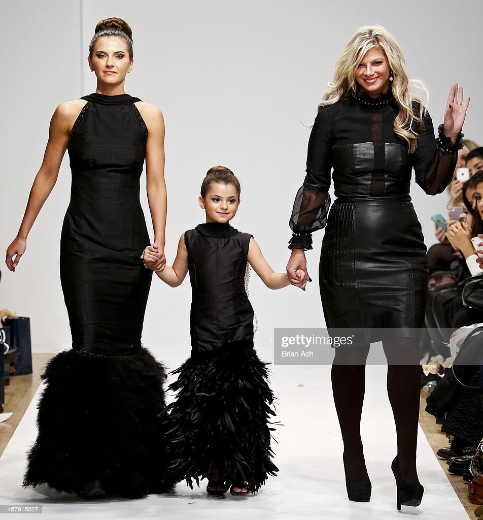 Models are seen walking the runway at the Isabella Barrett fashion show MercedesBenz Fashion Week Fall 2014 at Helen Mills Event Space on February 8...
