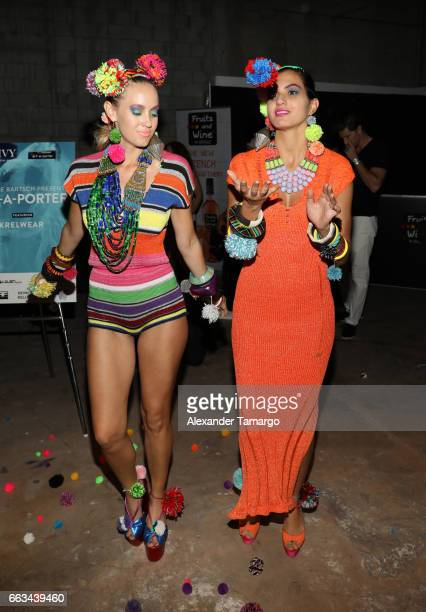 Models are seen wearing a creation for ArtaPorter at Underground Lauderdale Fashion Weekend Brought To You By The Greater Fort Lauderdale Conventions...