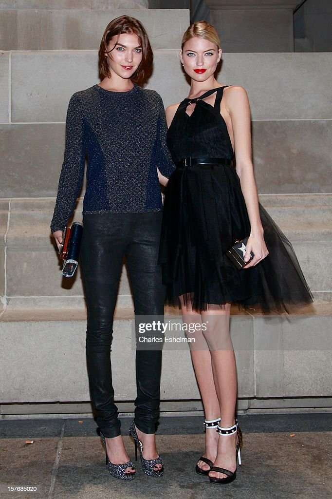 Models Arizona Muse and Martha Hunt attend the 'In Vogue: The Editor's Eye' screening at the Metropolitan Museum of Art on December 4, 2012 in New York City.