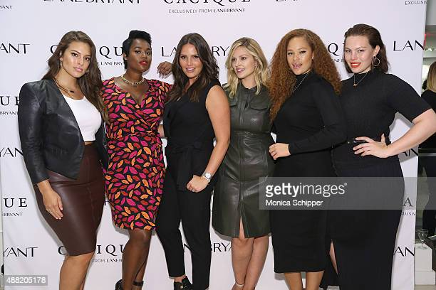 Models Ashley Graham Candice Huffine Precious Lee Justine Legault Sabina Karlsson and Georgia Pratt attend the Lane Bryant launch of the #PlusIsEqual...