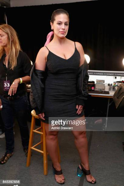 Models Ashley Graham prepares backstage for Prabal Gurung fashion show during New York Fashion Week The Shows at Gallery 2 Skylight Clarkson Sq on...