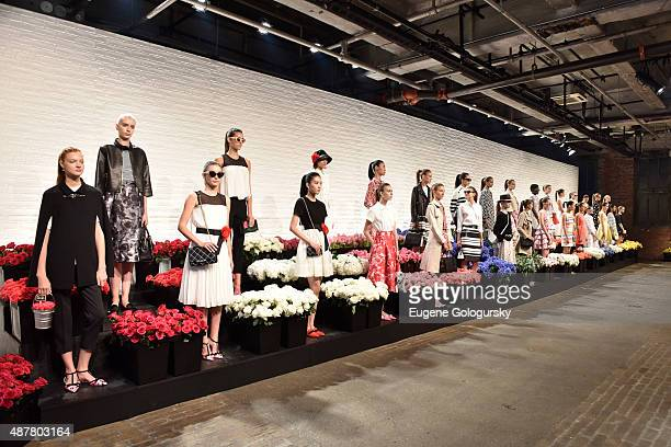 Models at the Kate Spade New York Presentation during Spring 2016 New York Fashion Week on September 11 2015 in New York City