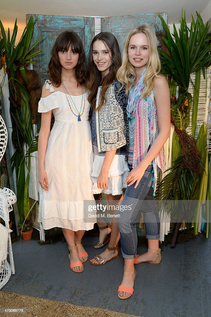 Models at the Lulu Kennedy For Indigo Collection launch for Marks Spencer at Soho House on May 12 2015 in London England